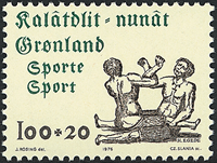 Greenland - 1976. Sports - 100+20 øre - Green / brownish grey