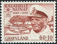 Greenland - King Frederik 1899-1972 - 60+10 øre - Red