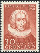 Grønland - 1958. *Hans Egedes* - 30 øre - Brunrød