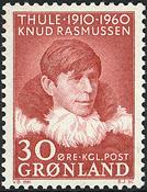 Greenland - 1960. Knud Rasmussen - 30 øre - Red