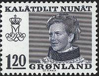 Grønland - Dronning Magrethe II - 120 øre - Blå