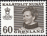 Greenland - Queen Margrethe II - 60 øre - Brown