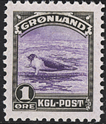 Greenland - American Issue - 1 øre - Green/violet