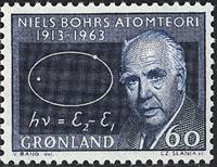 Greenland - 1963. Niels Bohr - 60 øre - Dark Blue