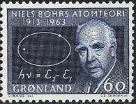 Grønland - 1963. Niels Bohr - 60 øre - Mørkeblå