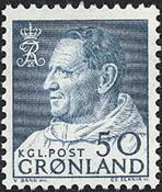 Greenland - King Frederik IX - Dressed in Anorak -  50 øre - Bluish green