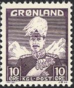 Greenland - King Christian X - Violet - Type I - 10 øre