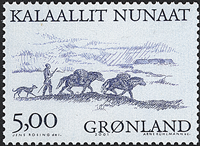 Greenland - 2001. Arctic Vikings Part III - 5,00 kr - Bluish grey