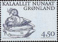 Greenland - 2001. Arctic Vikings Part III - 4,50 kr - Bluish grey