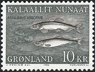 Grønland - 1986. Ammassatter - 10 kr. - Sortgrøn /  Brun