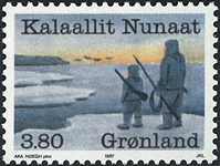 Grønland - 1987. Fangererhvervets år - 3,80 kr. - Flerfarvet