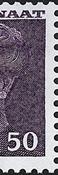 Greenland - Queen Margrethe II - New Definitive Issue -50 øre- Grey/violet
