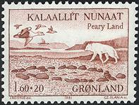 Grønland - 1981. Peary Land Ekspeditionerne - 1,60  + 0,20 kr. - Rød