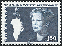 Greenland - Queen Margrethe II -New Definitive Issue -1,50 kr- Bluish green