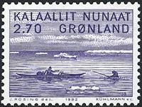 Greenland  1982. Jakob Danielsen - 2,70 kr. - Bluish violet