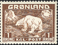 Greenland - Polar Bear - 1 kr. - Yellowish brown