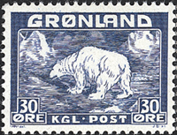 Greenland - Polar Bear - 30 øre - Blue