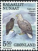 Grønland - 1987. Fugle II - 5,50 kr. - Flerfarvet