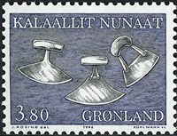 Greenland - 1986. Art local - 3,80 kr - Black / Blue