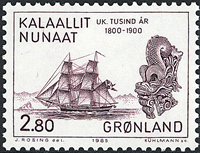 Greenland - 1985 Millenium Series Part V. Years 1800-2000 - 2,80 kr - Brown