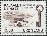 Grønland - 1000-års serien IV. År 1500-1800 - 5,50  kr. - Brun