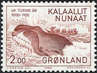 Grønland - 1000-års serien II. År 1000-1200 - 2,00  kr. - Rød