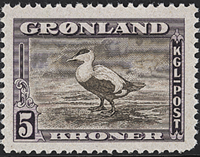 Greenland - American Issue - 5 kr. - Dark purple/greyish brown