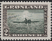 Greenland - American Issue - 2 kr. - Dark brown/green