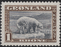 Greenland - American Issue - 1 kr. - Brown/grey