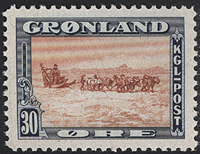 Greenland - American Issue - 30 øre - Blue/brownish red