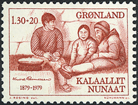 Grønland - 1979. Knud Rasmussen - 1,30 + 0,20 kr. - Rød