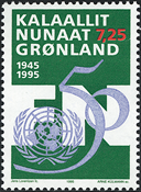 Greenland - 1995. 50th Anniversary of the United Nations - 7,25 kr.