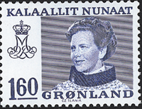 Greenland - Queen Margrethe II - Definitive Issue - 160 øre - Blue