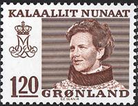 Greenland - Queen Margrethe II - Definitive Issue - 120 øre - Red/Brown