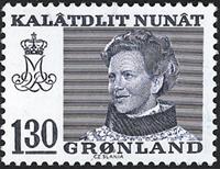 Grønland - Dronning Magrethe II - 130 øre - Blå