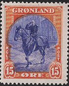 Greenland - American Issue - 15 øre - Red/ultramarine