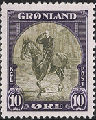 Greenland - American Issue - 10 øre - Purple/olive  green