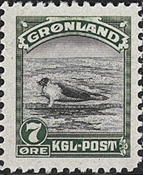 Greenland - American Issue - 7 øre - Green/grey