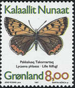 Greenland - 1997. Butterflies Part I - 8,00 kr - Multicoloured
