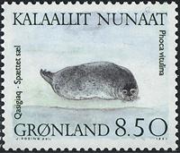 Grønland - 1991. Grønlandske Sæler - 8,50 kr. - Flerfarvet