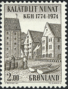 Greenland - 1974. The Royal Greenland Trade Department KGH - 2 kr - Brown