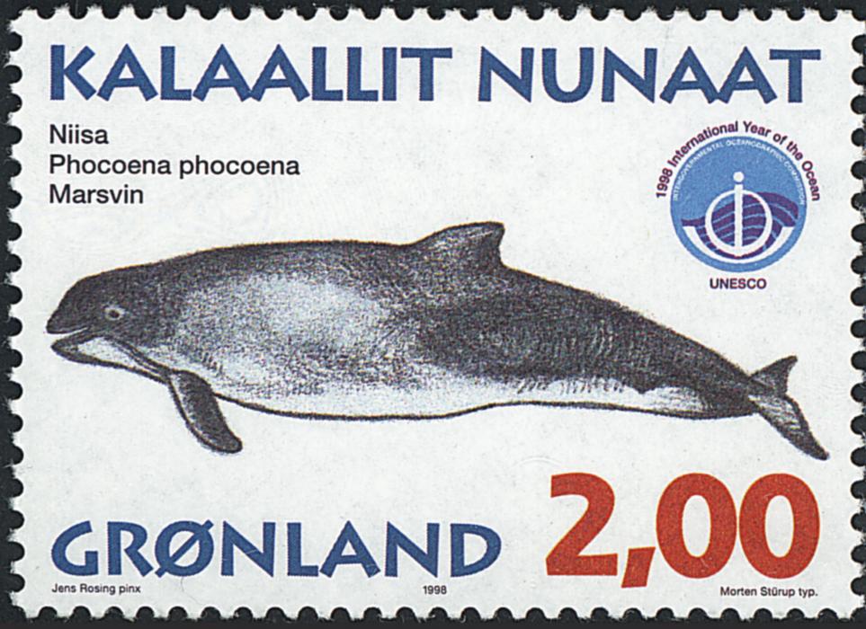 Grønland - 1998. Grønlandske hvaler III - 2,00 kr.  - Matrød / Flerfarvet