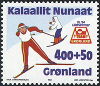Grønland - 1994. Team Grønland - 400+50 øre - Blåviolet / Flerfarvet