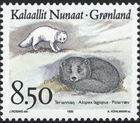 Grønland - 1993. Dyr i Grønland - 8,50 kr. - Flerfarvet