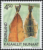 Grønland - 2001. Grønlands arv og kultur II - 4,50  kr. - Flerfarvet