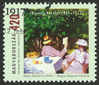 Hungary - Ferenczy Kóroly - Cancelled stamp