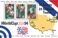 USA - VM i fodbold 1994 - Miniark - Postfrisk