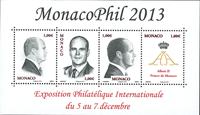 Monaco - Exhibition Monacophil 2013 - Mint souvenir sheet