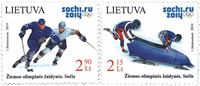 Lithuania - Winter Olympic games 2014 - Mint stamp