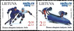 Litauen - Vinter OL 2014 - Postfrisk sæt 2v